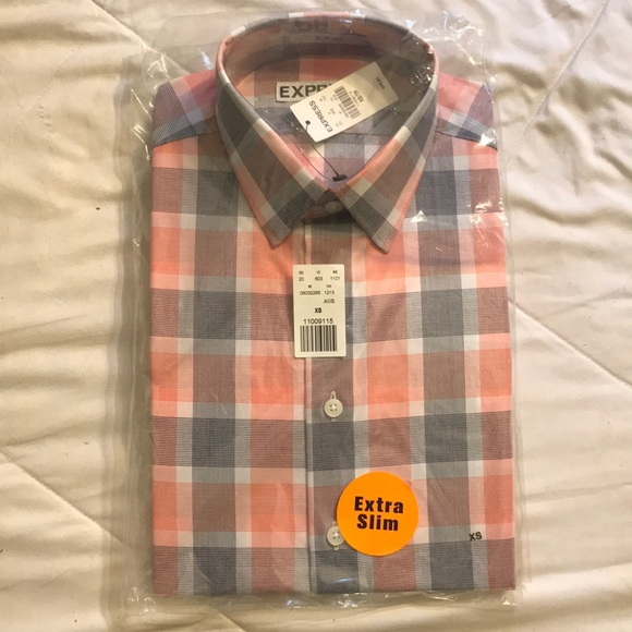 Express Other - Express Mens Extra Slim Fit Casual Shirt - Size XS